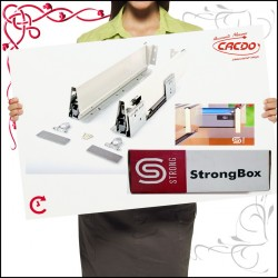 "Prowadnica do szuflad  ""STRONGBOX"" L-400 - h140 popiel"