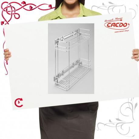 Kosz CARGO mini do szafki 150mm 2 półkowy lakier srebrny