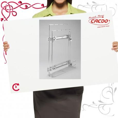 Kosz CARGO mini do szafki 150mm na ręczniki lakier srebrny