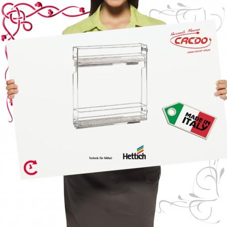 Kosz CARGO ITALY mini do szafki 150mm 2 półkowy chrom połysk lewe
