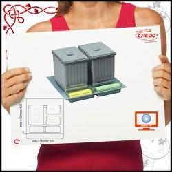 SEGREGATOR na odpadki SISTEMA - szuflada 60cm 2x16L