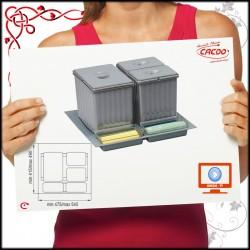 SEGREGATOR na odpadki SISTEMA - szuflada 60cm 2x7,5L 1x16L