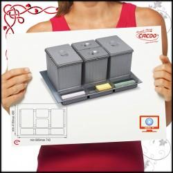 SEGREGATOR na odpadki SISTEMA - szuflada 80cm 2x16L 2x7,5L