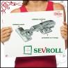 Zawias puszkowy SEVROLL z miękkim domykiem nawierzchniowy